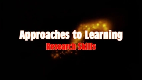 Thumbnail for entry Approaches to Learning - Research Skills