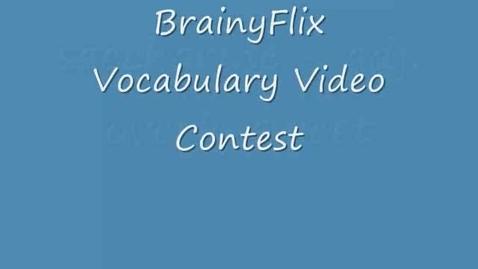 Thumbnail for entry Saccharine- BrainyFlix.com Vocab Contest