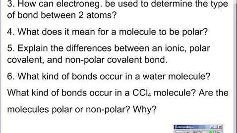 Thumbnail for entry Stephens Chemistry: Bond and molecule polarity