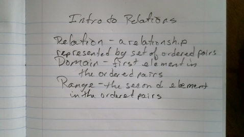 Thumbnail for entry Intro to Relations