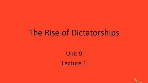 Thumbnail for entry Euro: Lecture 9.1 - Dictatorship, part 1
