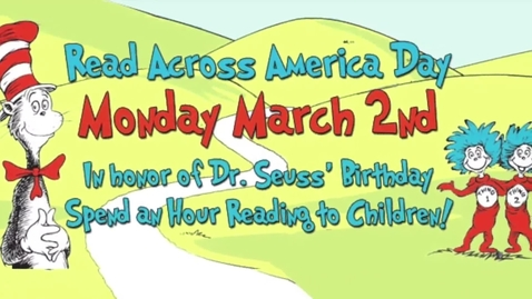 Thumbnail for entry Read Across America 2015 - Windward High School students read to elementary students