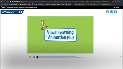 Thumbnail for entry Pearson Adding Fractions
