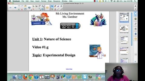 Thumbnail for entry 1.g Experiemental Design
