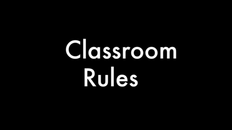Thumbnail for entry Welcome to Mr. Hughes's Class