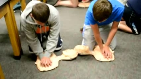 Thumbnail for entry Wayland Union Middle School Students Learn to Save a Life with CPR Training