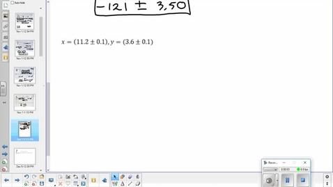 Thumbnail for entry Absolute, relative, and percentage error lesson part 3  12-5-17