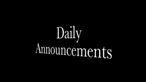 Thumbnail for entry Daily Announcements 10.20.15