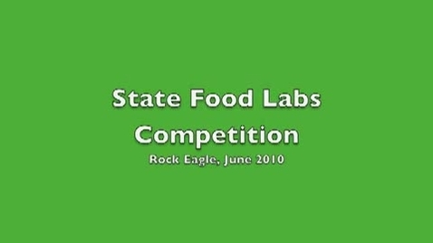 Thumbnail for entry Georgia 4-H Foods Lab Competition