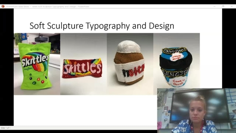 Thumbnail for entry soft sculpture typography and design
