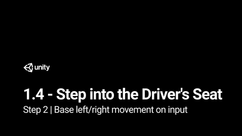 Thumbnail for entry Step 2 - Base left or right movement on input