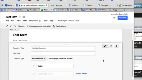 Thumbnail for entry Create Questions on a Google Form