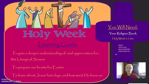 Thumbnail for entry Holy Week