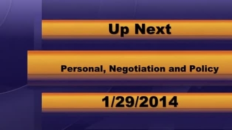 Thumbnail for entry MCPS Personnel Negotiations & Policy 01-29-2014