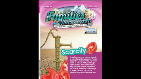 Thumbnail for entry Studies Weekly Scarcity
