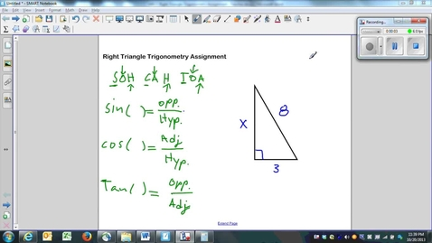 Thumbnail for entry Right Triangle Trigonometry Assignment Question 4