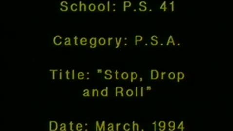 """Thumbnail for entry (1994) KWN """"Stop Drop and Roll"""""""