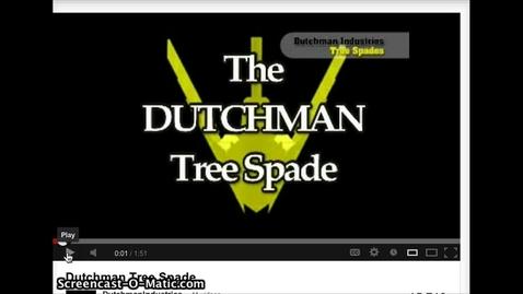 Thumbnail for entry Dutchman Tree Spade Sales Video Clip