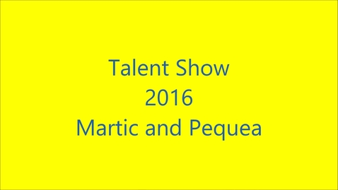 Thumbnail for entry Talent Show 2016