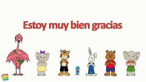 """Thumbnail for entry Spanish Lesson for Children - """"Hola Hola"""" (Scene & Song)"""
