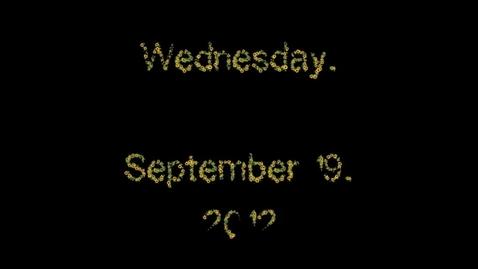 Thumbnail for entry Wednesday, September 19, 2012
