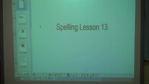 Thumbnail for entry 4th - Spelling Lesson 13