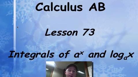 Thumbnail for entry Lynch - AP Calclulus AB: Lesson 73