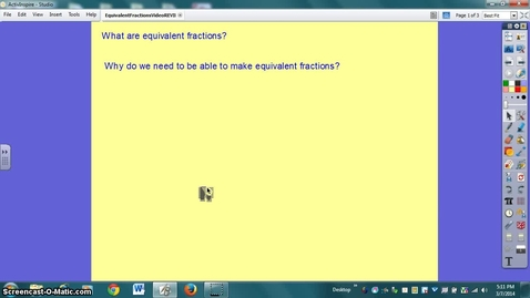 Thumbnail for entry Equivlent Fractions to add & subtract unlike denominators
