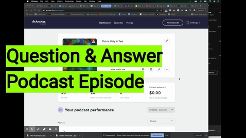 Thumbnail for entry Q&A Podcast Episode Tutorial
