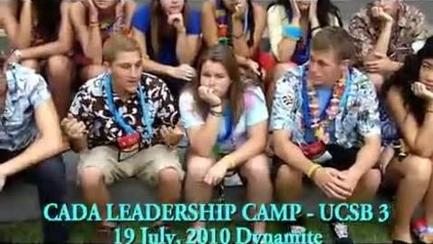 Thumbnail for entry CADA Camp UCSB III Lip Dub 2010