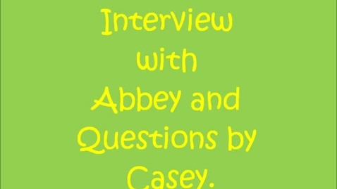 Thumbnail for entry Buddy Interview Abbey