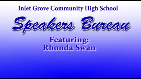 Thumbnail for entry Speakers Bureau: Rhonda Swan/Palm Beach Post Columnist