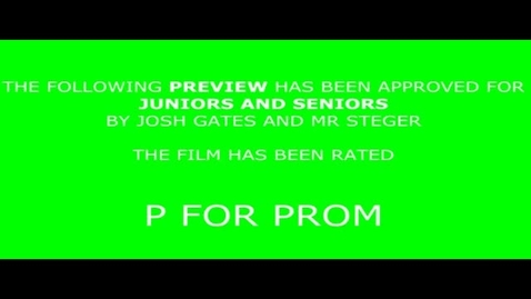 Thumbnail for entry What Not to Do at Prom