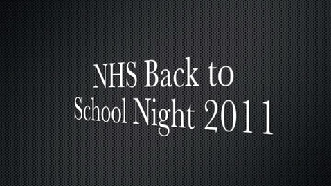 Thumbnail for entry Back to School Night Message 2011