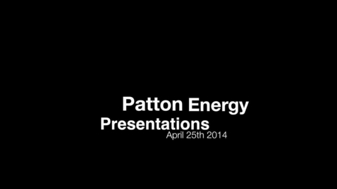 Thumbnail for entry Patton Energy Project Presentations to Elementary Schools