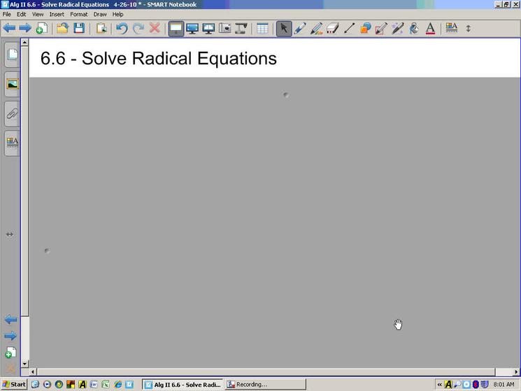 Alg II 6 6 - Solve Radical Equations - SchoolTube - K12