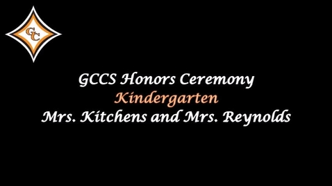 Thumbnail for entry Kindergarten Honors Day Awards.mp4