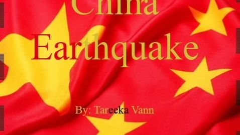 Thumbnail for entry China Earthquake - WSCN (2009-2010)