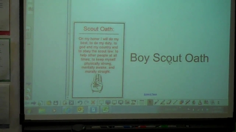 Thumbnail for entry Boy Scout Oath - ASL