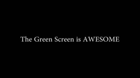 Thumbnail for entry How to Green Screen - WSCN (2014/2015)