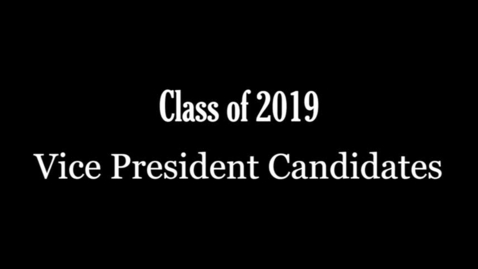 Thumbnail for entry PTHS Class of 2019 VP candidates