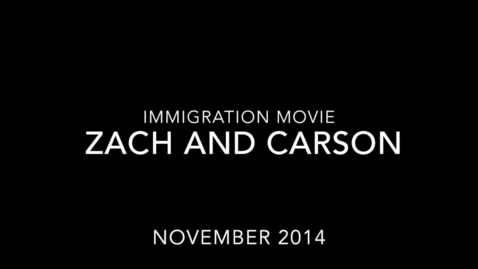 Thumbnail for entry Carson Zach Immigration Interview