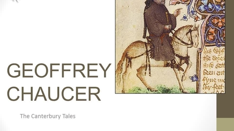 Thumbnail for entry Brit Lit Chaucer