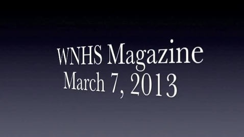 Thumbnail for entry WNHS-TV March 8, 2013