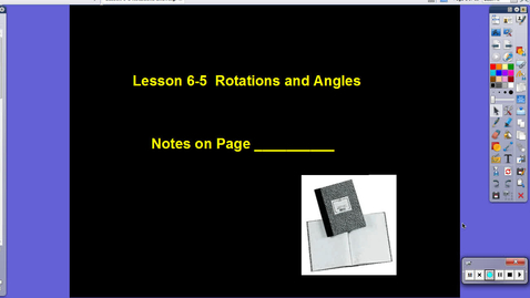 Thumbnail for entry Lesson 6-5 Rotations and Angles