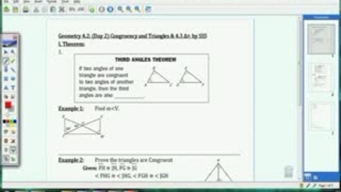 Thumbnail for entry 4.2 & 4.3 Cong. of Triangles and SSS