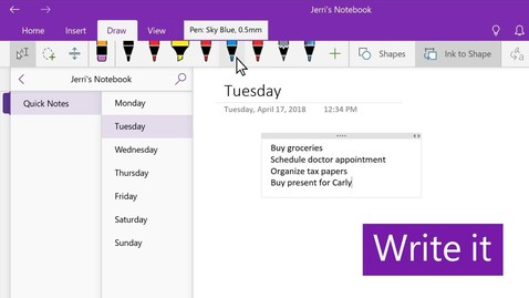 Thumbnail for entry Create a to-do list with OneNote