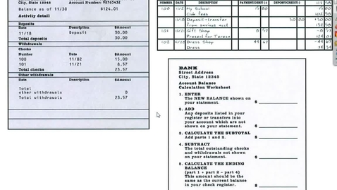 Thumbnail for entry Balancing a Checking Account Video