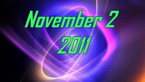 Thumbnail for entry November 1, 2011