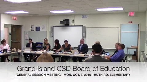 Thumbnail for entry Grand Island CSD Board of Education Meeting 10-3-2016